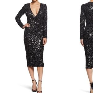 NWOT cheetah sequin midi